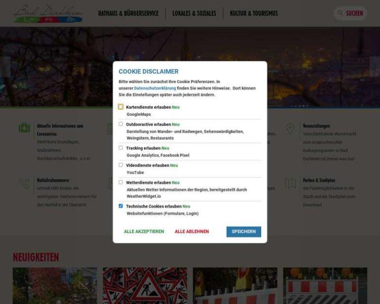 Screenshot (middle) http://www.bad-duerkheim.de