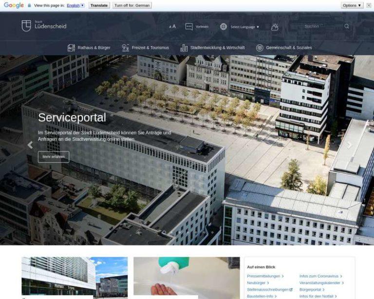 Screenshot (middle) http://www.Luedenscheid.de