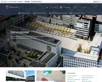 Screenshot (small) http://www.Luedenscheid.de