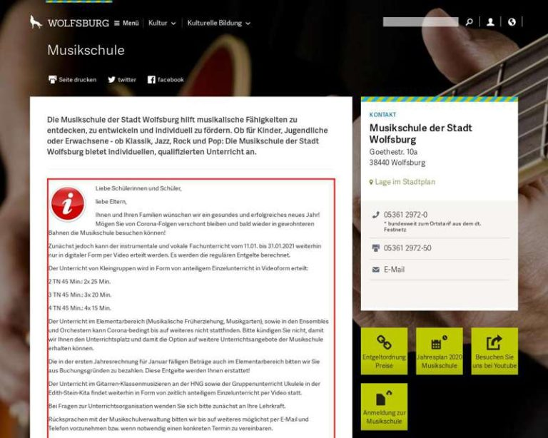 Screenshot (middle) http://www.wolfsburg.de/musikschule