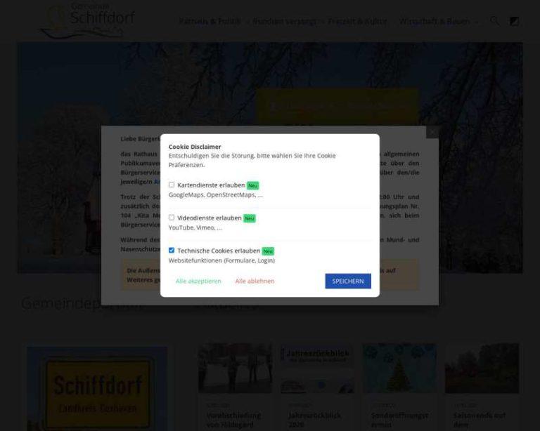 Screenshot (middle) http://www.schiffdorf.de