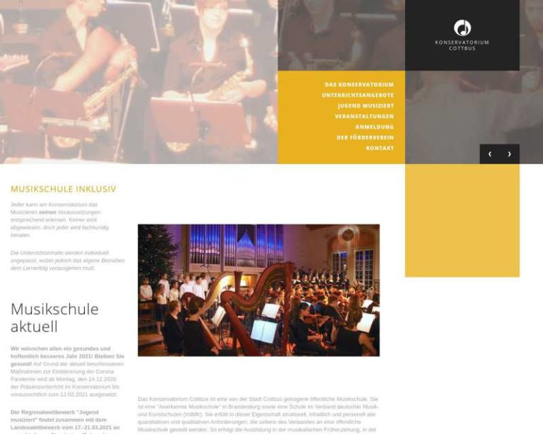 Screenshot (middle) http://www.konservatorium-cottbus.de
