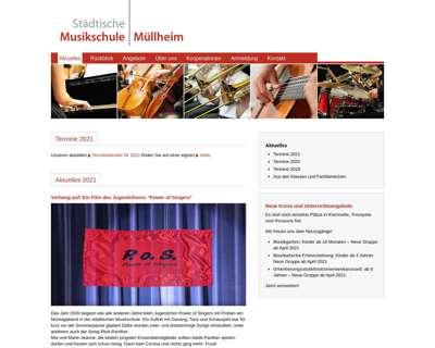Screenshot (small) http://www.musikschule-muellheim.de