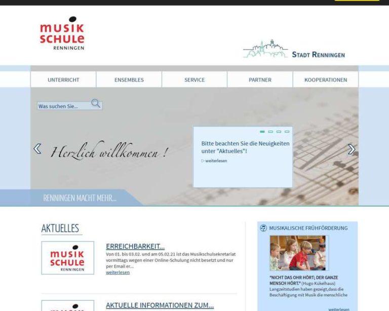 Screenshot (middle) http://www.musikschule-renningen.de