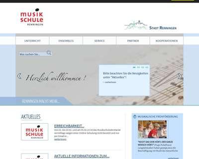 Screenshot (small) http://www.musikschule-renningen.de