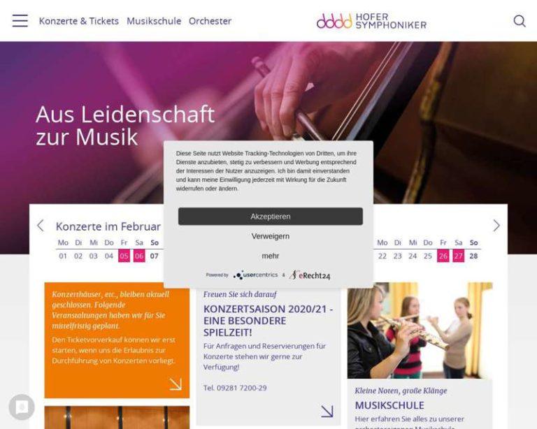 Screenshot (middle) http://www.hofer-symphoniker.de