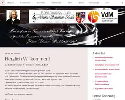 Screenshot (small) http://www.kreismusikschule-jsb.de