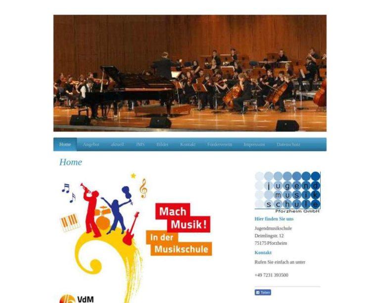 Screenshot (middle) http://www.jugendmusikschule-pforzheim.de