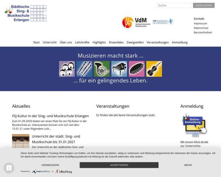 Screenshot (middle) http://www.musikschule-erlangen.de