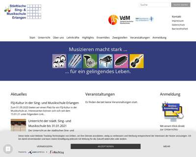 Screenshot (small) http://www.musikschule-erlangen.de