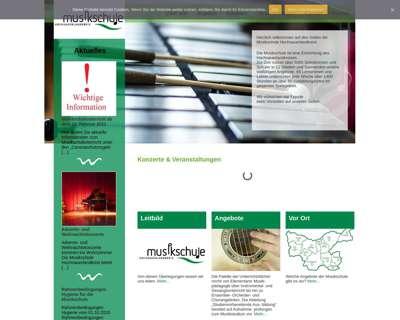 Screenshot (small) http://www.musikschule-hochsauerlandkreis.de