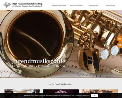 Screenshot (small) http://www.jugendmusikschule-neuenbuerg.de