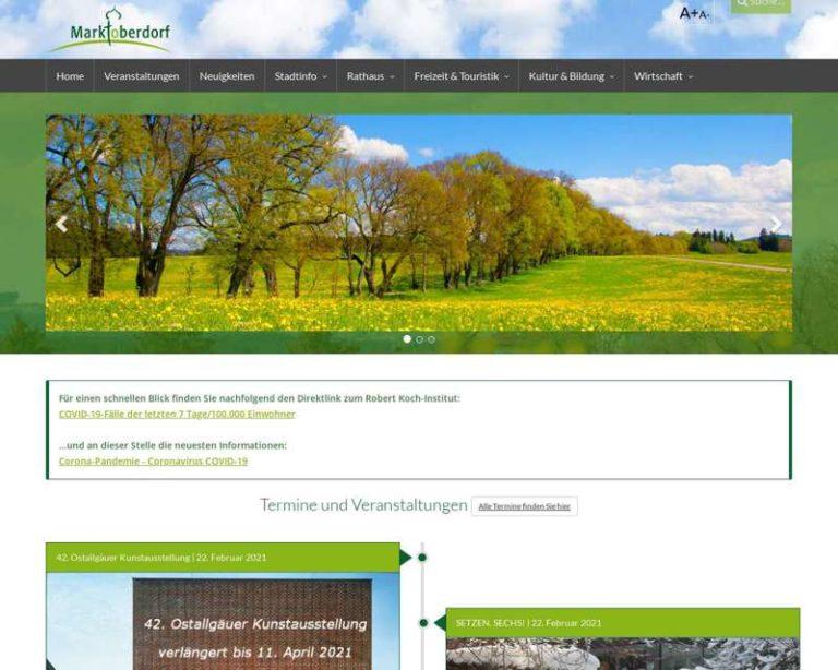 Screenshot (middle) http://www.marktoberdorf.de