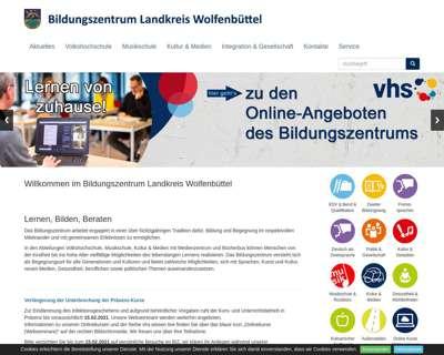 Screenshot (small) http://www.bildungszentrum-wolfenbuettel.de