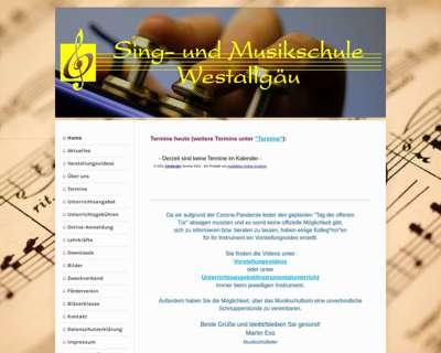 Screenshot (small) http://www.musikschule-westallgaeu.de