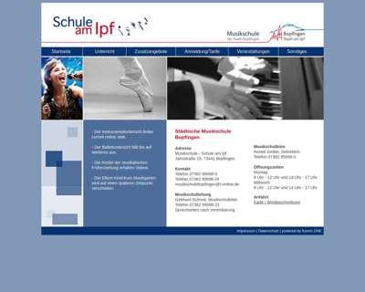 Screenshot (small) http://www.musikschule-bopfingen.de