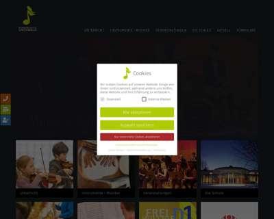Screenshot (small) http://www.musikschule-gruenwald.de