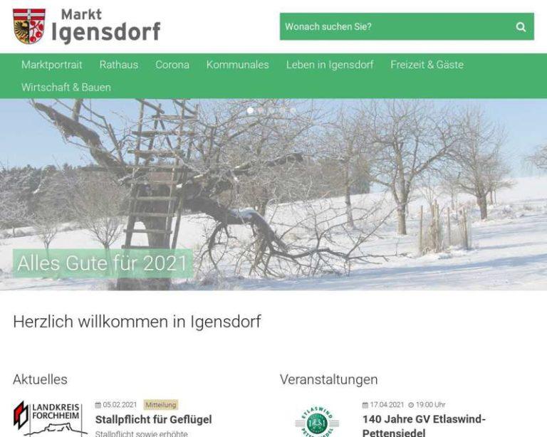 Screenshot (middle) http://www.igensdorf.de