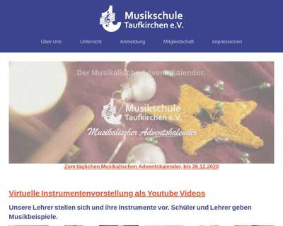 Screenshot (small) http://www.musikschule-taufkirchen.de