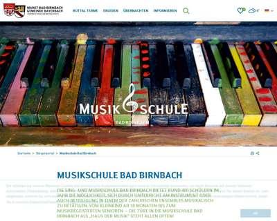 Screenshot (small) http://www.musikschule-badbirnbach.de