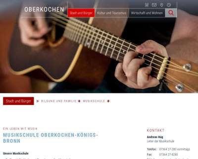 Screenshot (small) http://www.musikschule-oberkochen.de