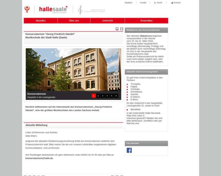 Screenshot (middle) http://www.konservatorium.halle.de