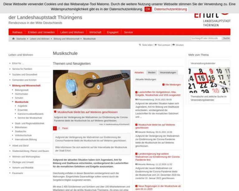Screenshot (middle) http://www.erfurt.de/musikschule