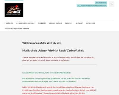 Screenshot (small) http://www.musikschule-zerbst.de