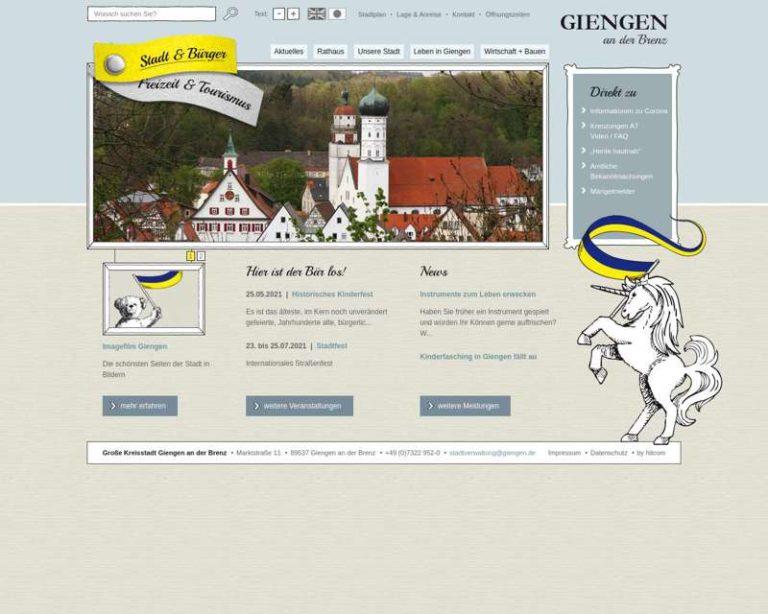 Screenshot (middle) http://www.giengen.de