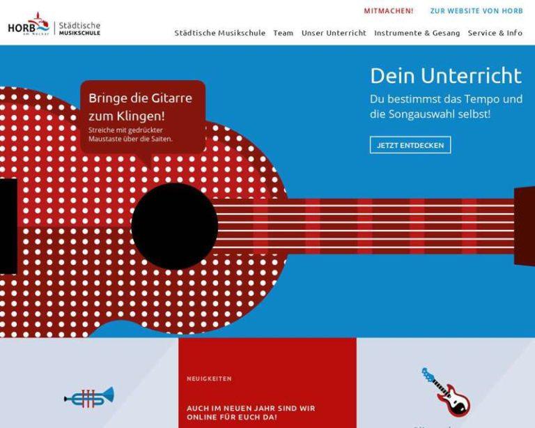 Screenshot (middle) https://www.horb-musikschule.de/willkommen