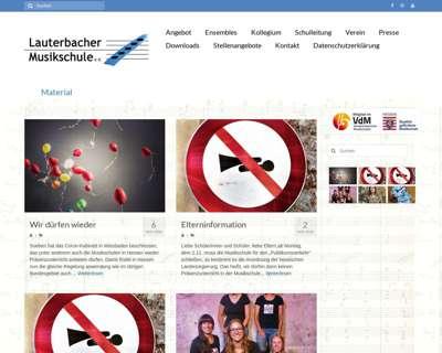 Screenshot (small) http://www.lauterbacher-musikschule.de