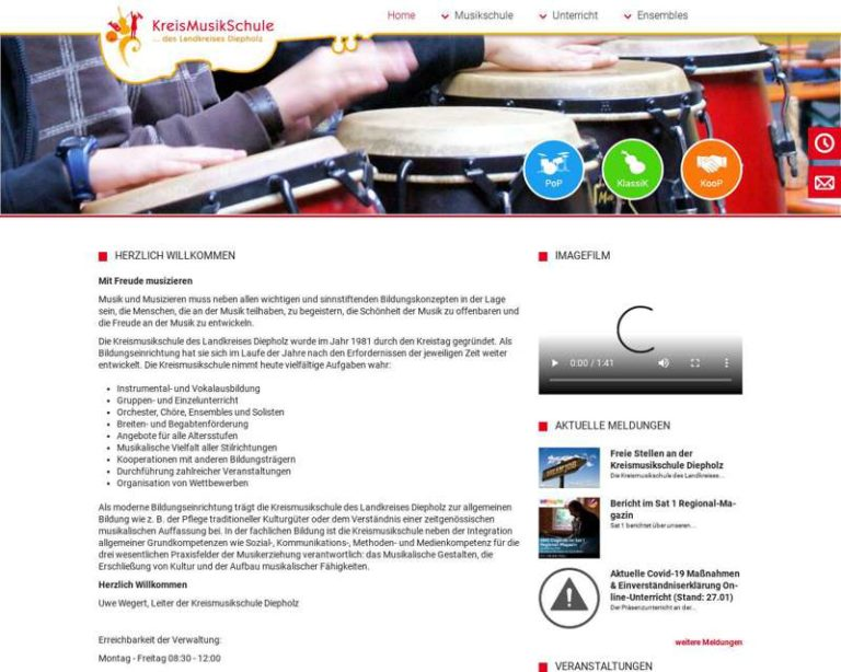 Screenshot (middle) http://www.musikschule-diepholz.de
