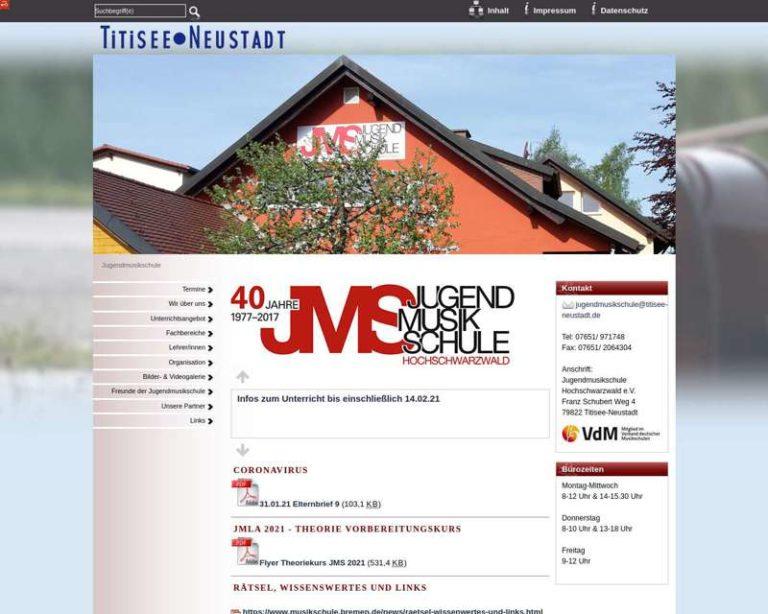 Screenshot (middle) http://www.titisee-neustadt.de/jms/