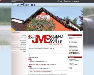 Screenshot (small) http://www.titisee-neustadt.de/jms/