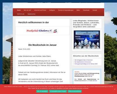 Screenshot (small) http://www.musikschule-elmshorn.de