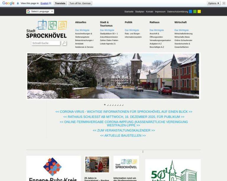 Screenshot (middle) http://www.sprockhoevel.de