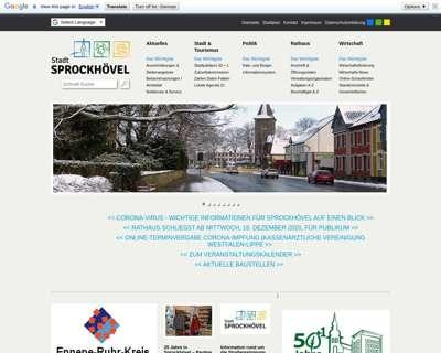 Screenshot (small) http://www.sprockhoevel.de