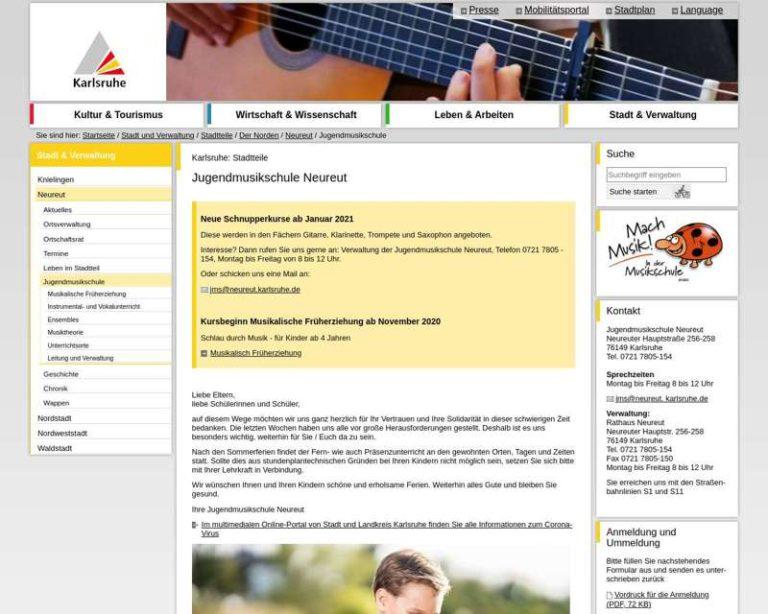 Screenshot (middle) http://www.karlsruhe.de/b4/stadtteile/norden/neureut/leben/jms.de