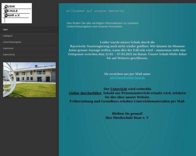 Screenshot (middle) http://www.musikschule-haar.de