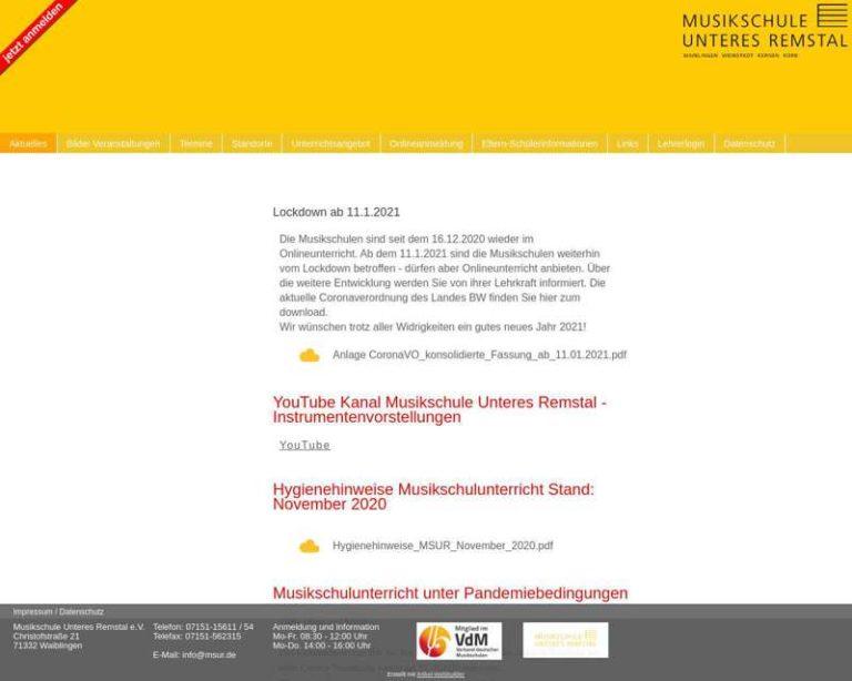 Screenshot (middle) http://www.msur.de