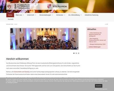 Screenshot (small) http://www.musikschule-eifelkreis.de