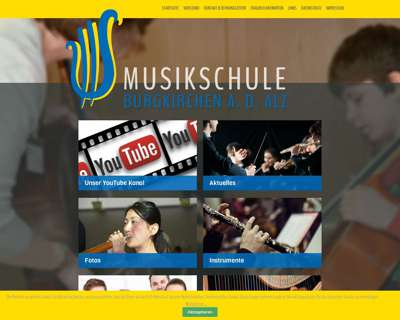 Screenshot (small) http://www.musikschule-burgkirchen.de