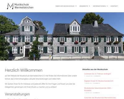 Screenshot (small) http://www.musikschule-wermelskirchen.de