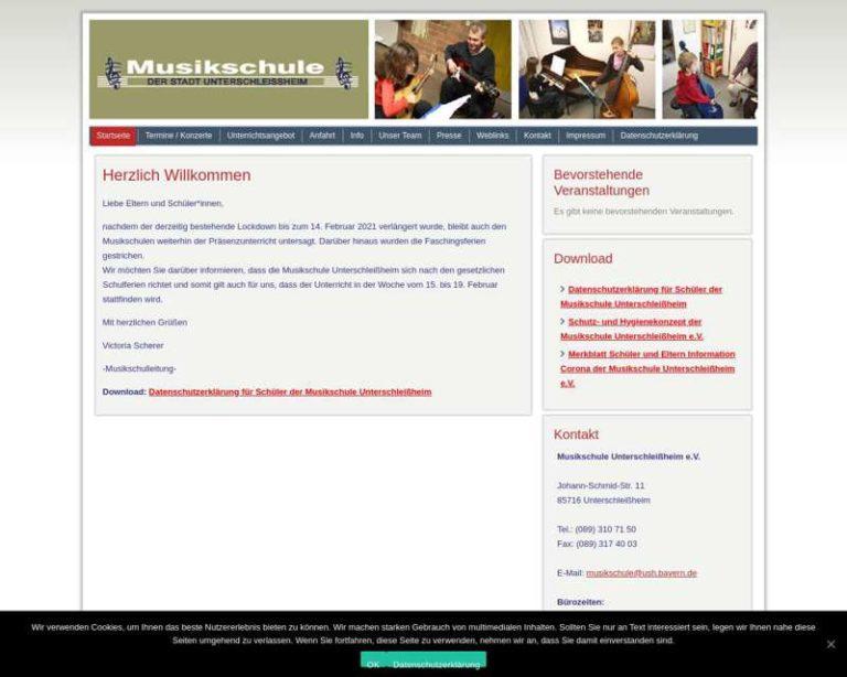 Screenshot (middle) https://musikschule-unterschleissheim.de/