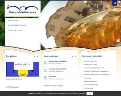 Screenshot (small) http://www.musikschule-waldstetten.de