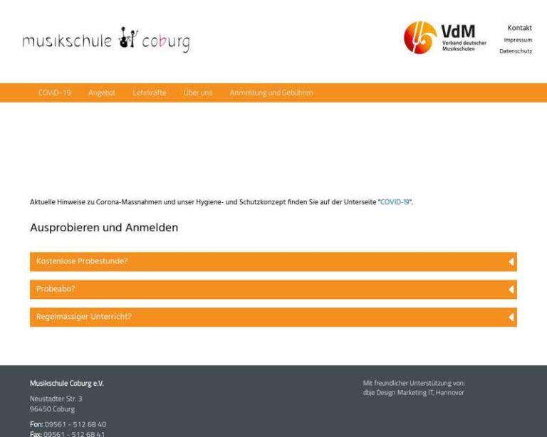 Screenshot (middle) http://www.musikschule-coburg.de