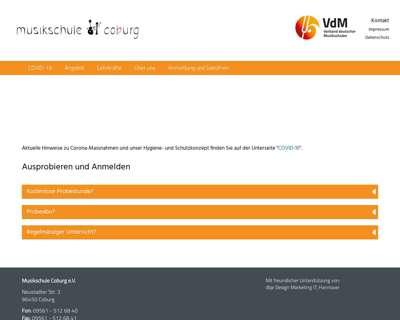 Screenshot (small) http://www.musikschule-coburg.de