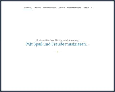 Screenshot (small) http://www.kreismusikschule-herzogtum-lauenburg.de