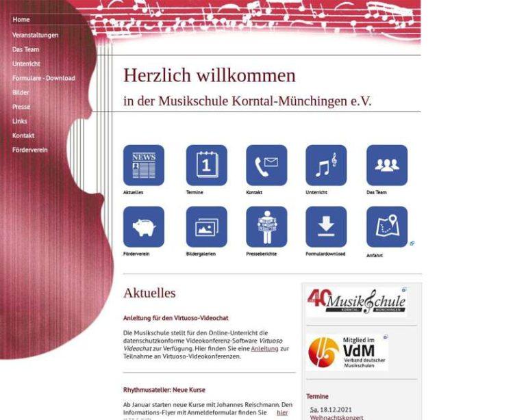 Screenshot (middle) http://www.musikschule-korntal-muenchingen.de