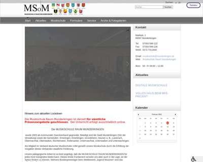 Screenshot (small) http://www.musikschule-raummunderkingen.de